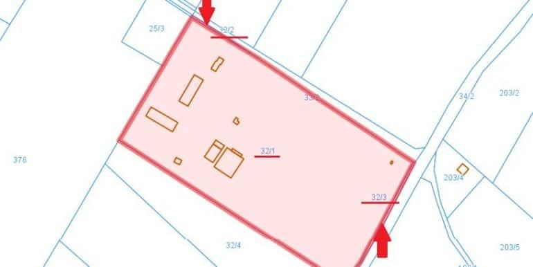 mapa Żabno
